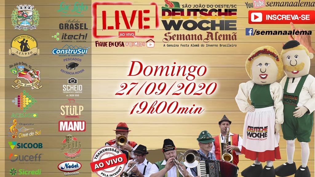 LIVE comemorativa da Deusche Woche será realizada