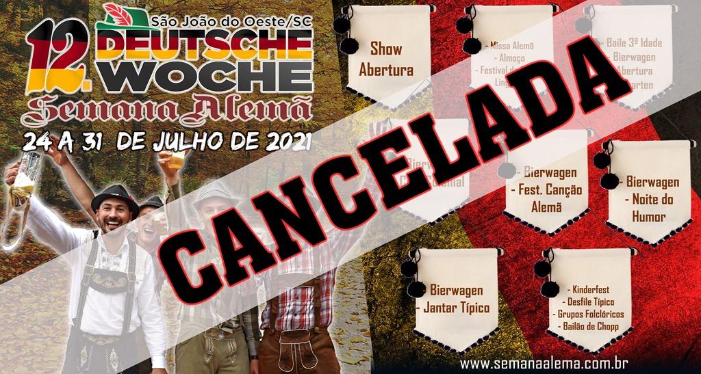 Comissão oficializa cancelamento da edição de 2021 da Deutsche Woche